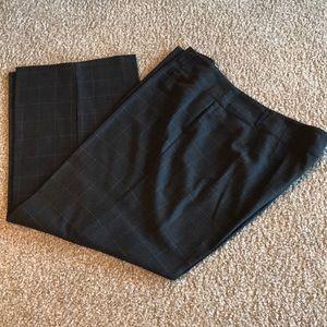 Ashley Stewart Gray checkered slacks